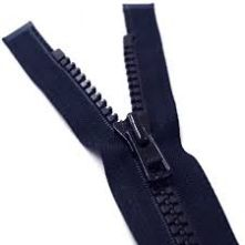 Heavy Duty Navy Plastic Open Ended Zip